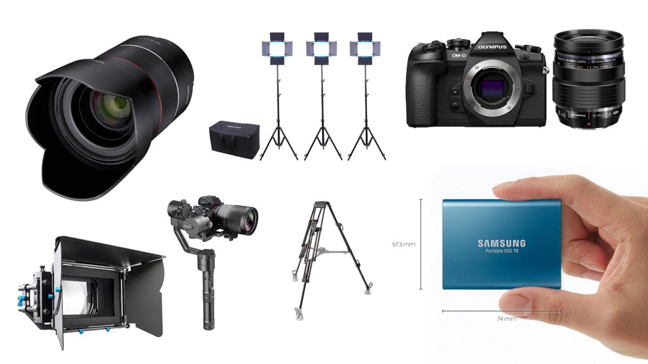 This Week's Top 10 Deals for Filmmakers – Olympus OM-D E-M1 Mark II, Rokinon Cine Lens Kit, Zhiyun Crane v2 and more