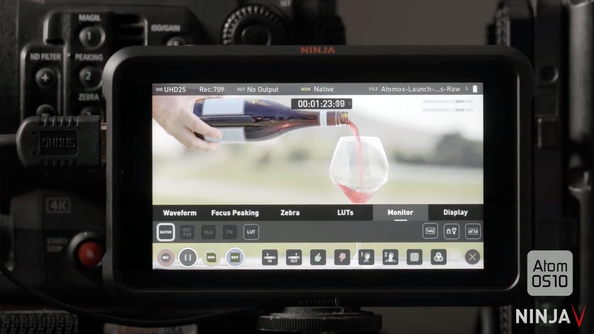 AtomOS 10 aumenta el potencial de tu monitor/grabador Ninja V