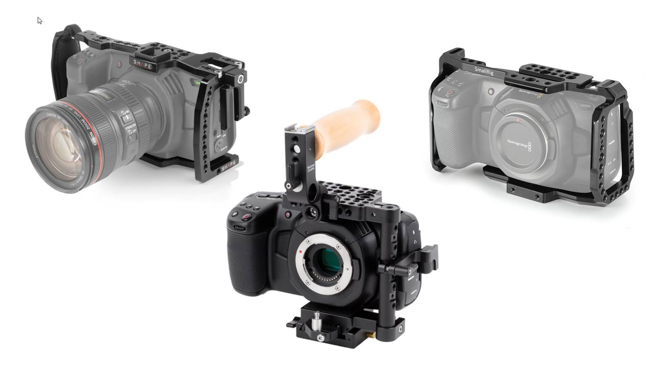 More Cages for the BMPCC 4K by Shape, Wooden Camera and SmallRig