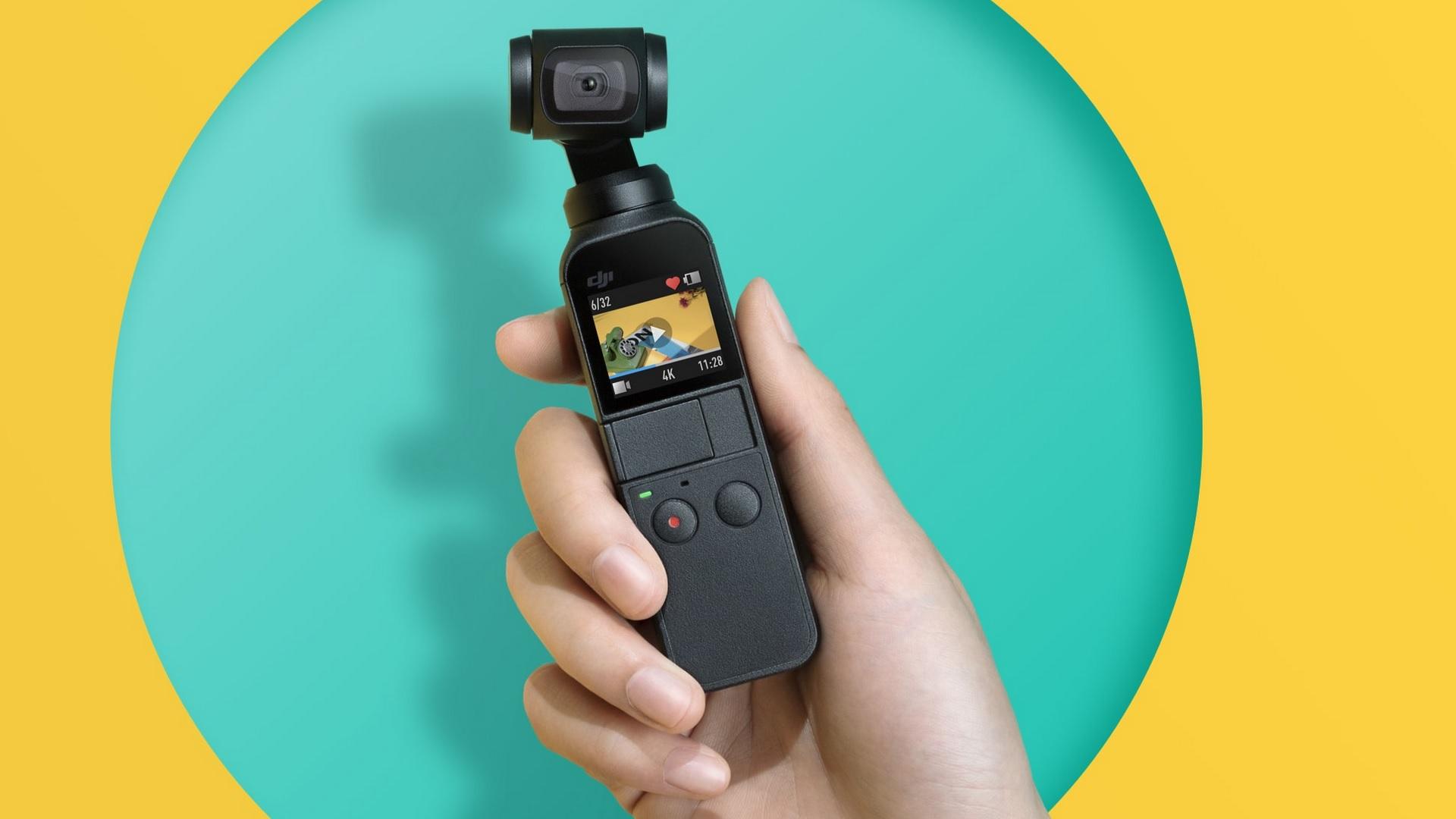 DJI Osmo Pocket - Tiny 3-Axis Stabilized Camera with 4K 60fps