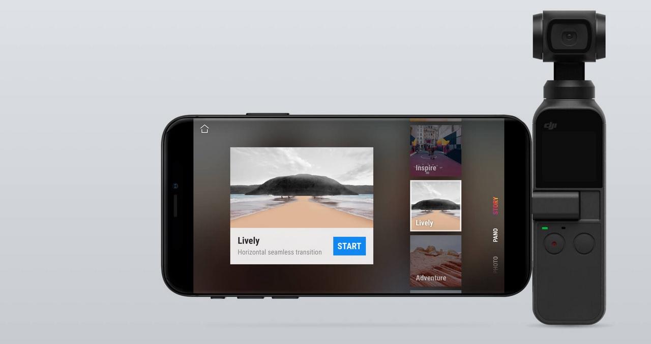 DJI Osmo Pocket - Tiny 3-Axis Stabilized Camera with 4K