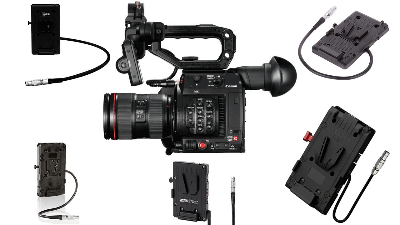 Opciones de alimentación para cámaras Canon C200 y C300 Mark II