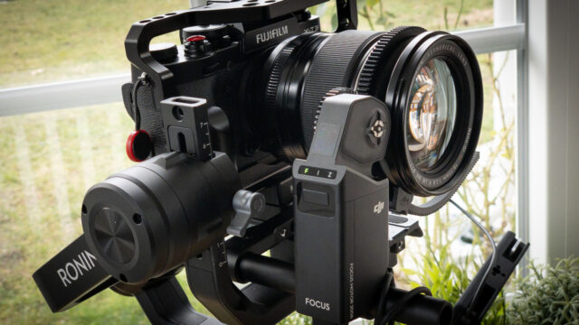 DJI Ronin-S Focus Motor attached to Gimbal