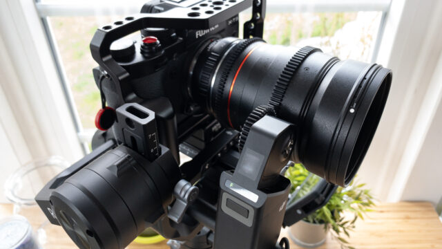 DJI Ronin-S Focus Motor works fine with Samyang Lens