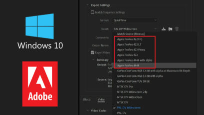 Adobe Adds ProRes Export on Windows for Premiere, After Effects