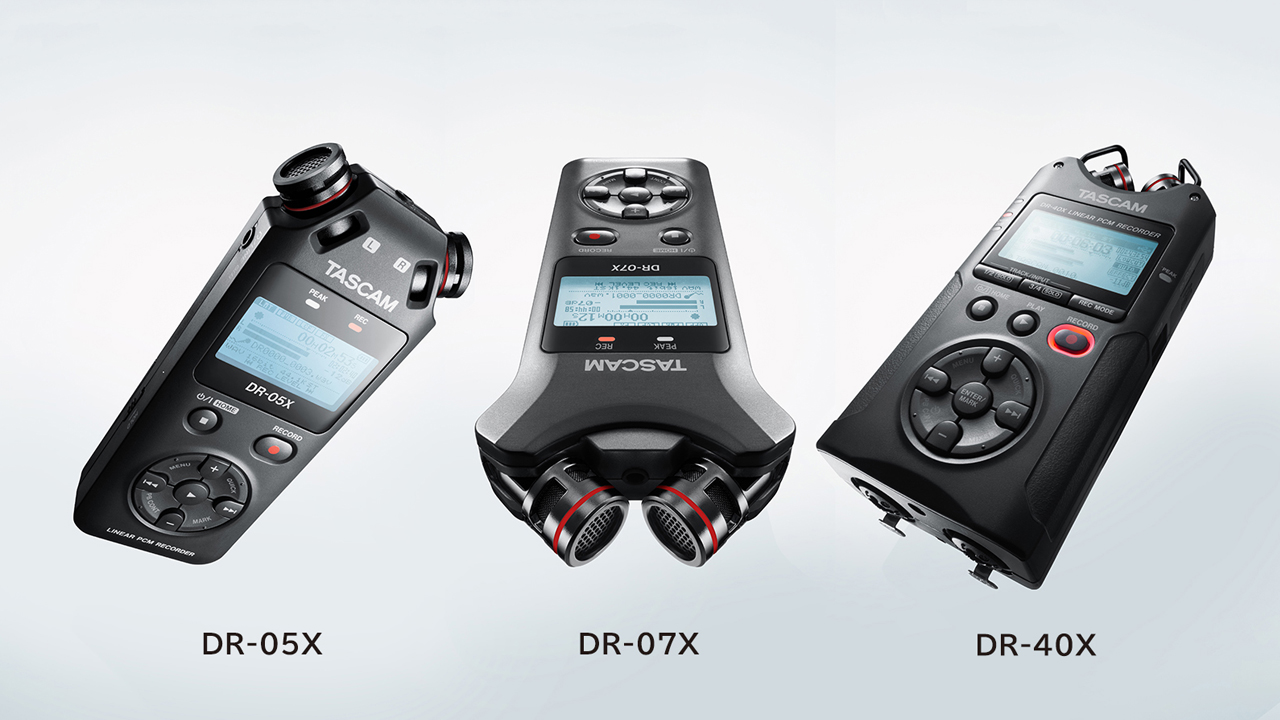 Tascam DR-X Series of Audio Recorders Launched