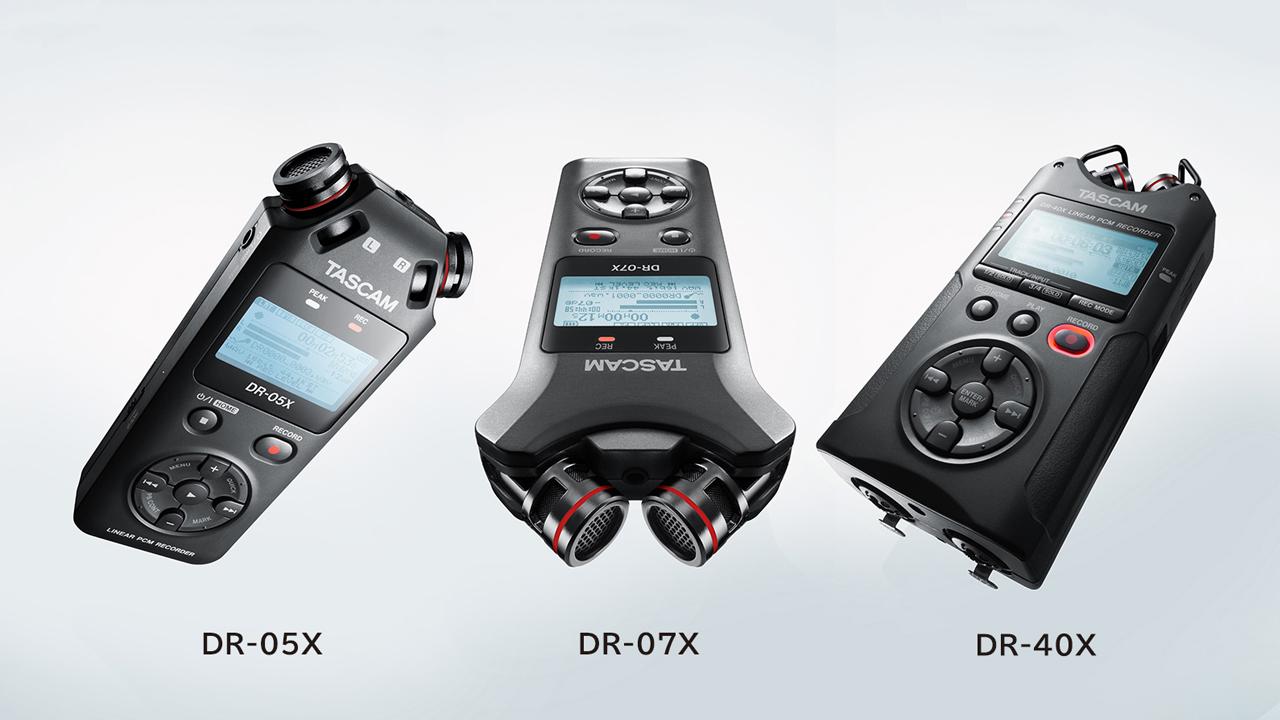 Lanzamiento de la serie de grabadoras de audio Tascam DR-X