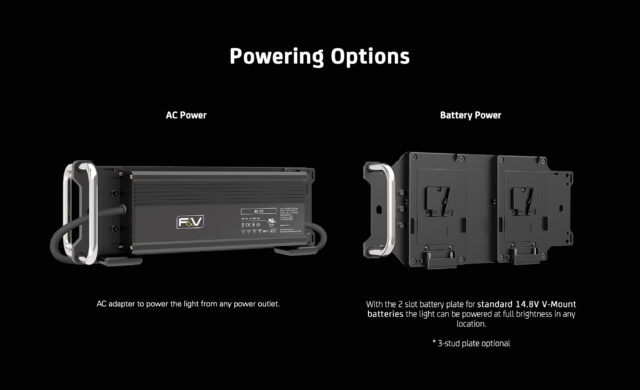 Z1200VC CTD - AC power adapter or twin V-Mount
