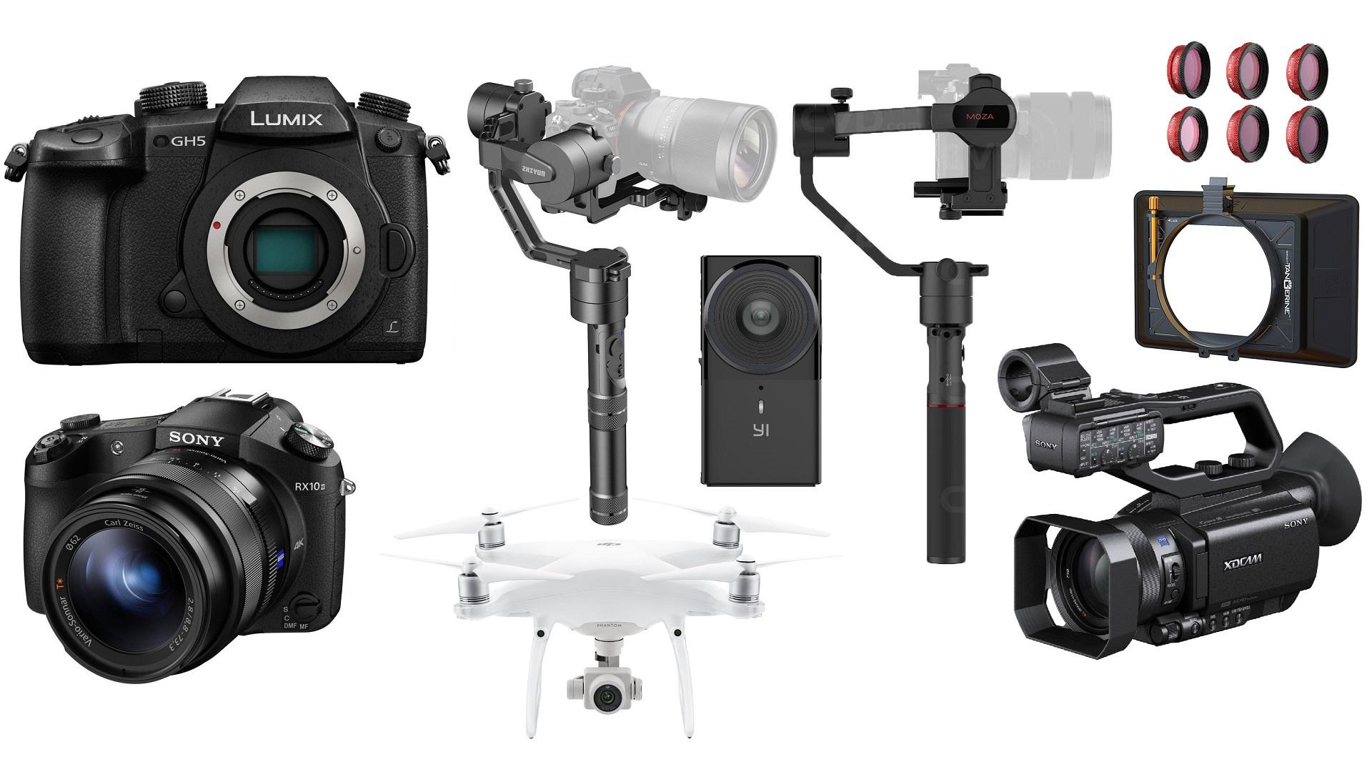 Las 10 mejores ofertas para cineastas de esta semana – DJI Phantom 4, GH5, Sony RX10 II, gimbals y más