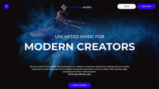 Keyframe Audio, licencias de música libre de derechos - Página de inicio