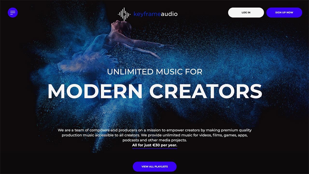 Keyframe Audio - 低価格のロイヤリティフリー楽曲ライセンスサービス