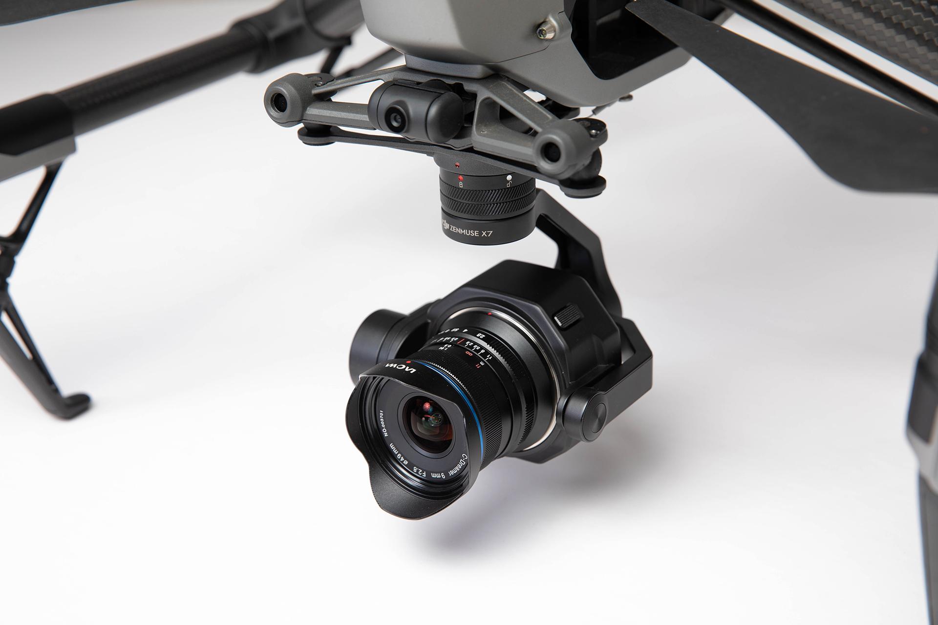LAOWA 9mm f/2.8 - DJI X7ドローンカメラ用広角レンズ