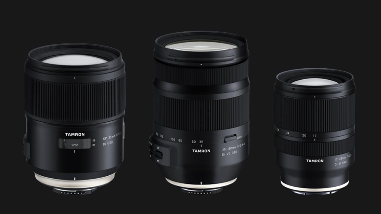 Tamron anuncia tres nuevos lentes: 35 mm, 35-150 mm y 17-28 mm