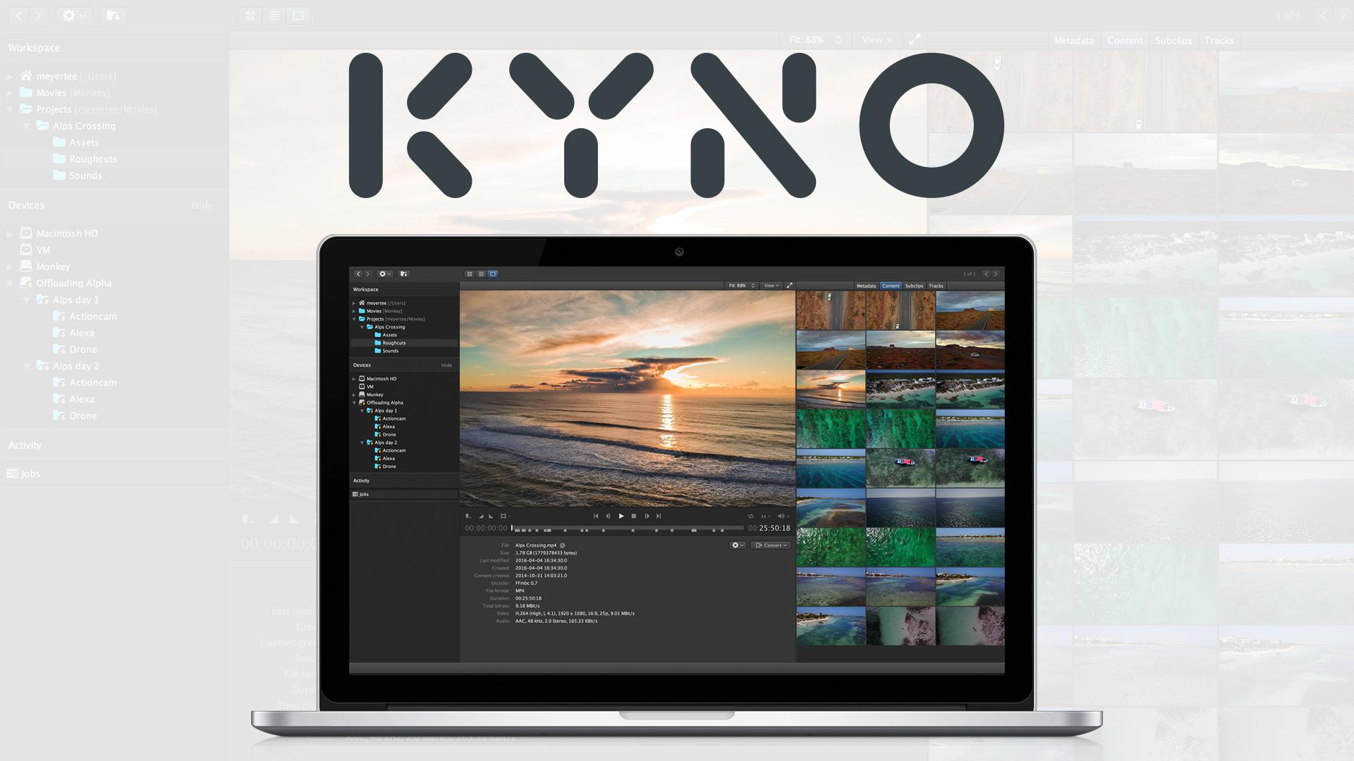 Presentan el Kyno 1.6 – poderosas funciones del nuevo flujo de trabajo