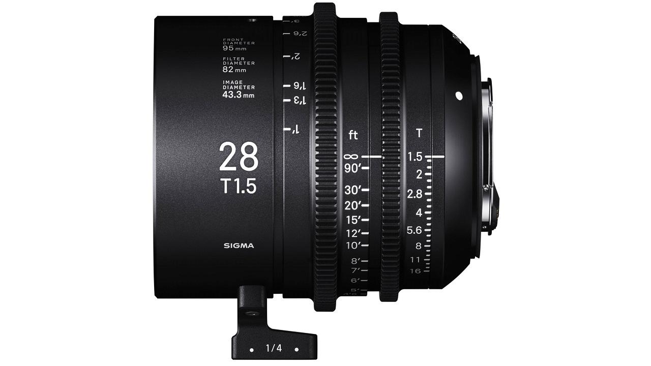 シグマが28mm T1.5フルフレームシネレンズを発売