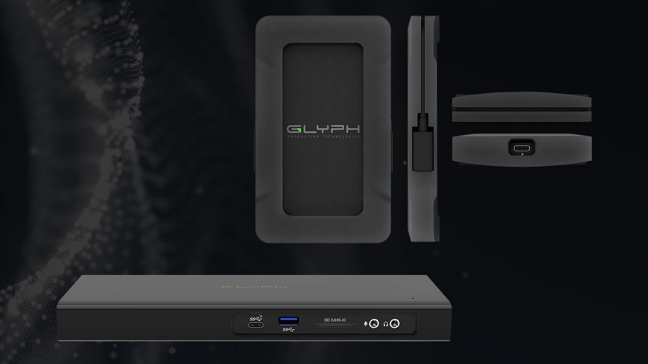 Glyph Thunderbolt 3 Dock Supports Dual 4k Displays – Atom NVMe SSD writes up to 2800 MB/s