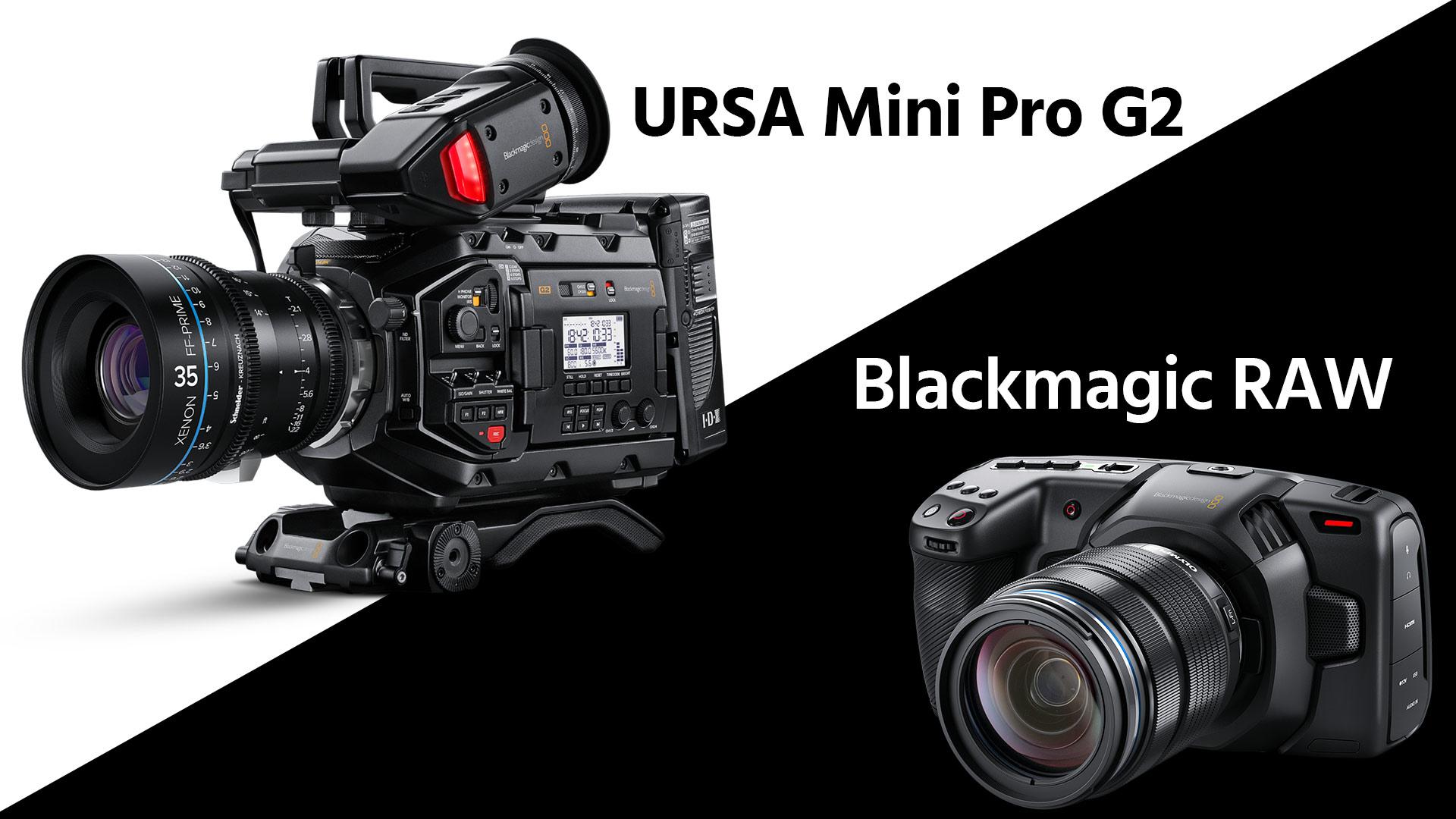 Presentan la Blackmagic URSA Mini Pro G2, la Pocket 4K ahora con Blackmagic RAW, se acabó el DNG