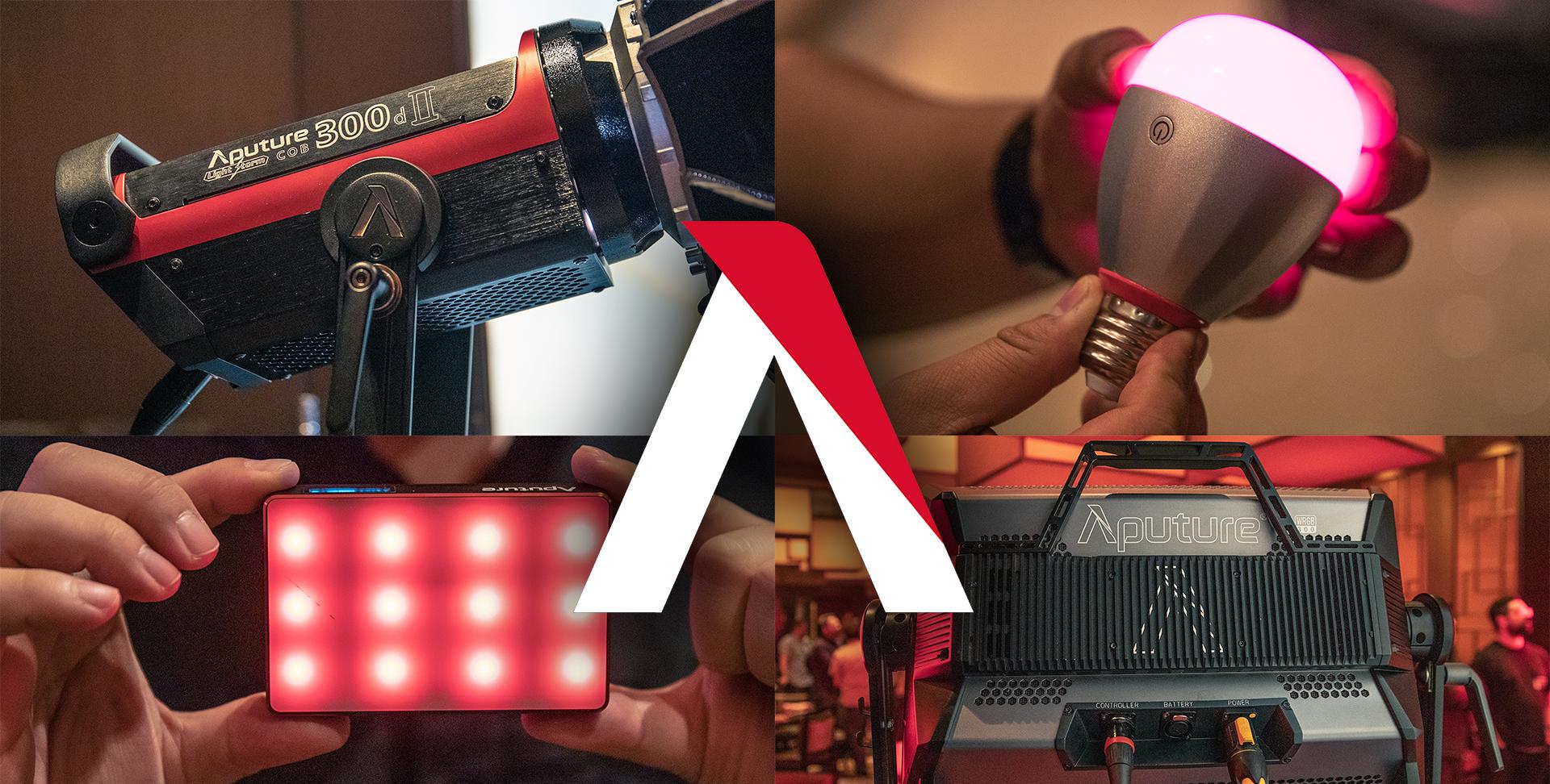 Aputure anuncia el LS C300d MKII, una bombilla, dos paneles LED y una app para todo eso