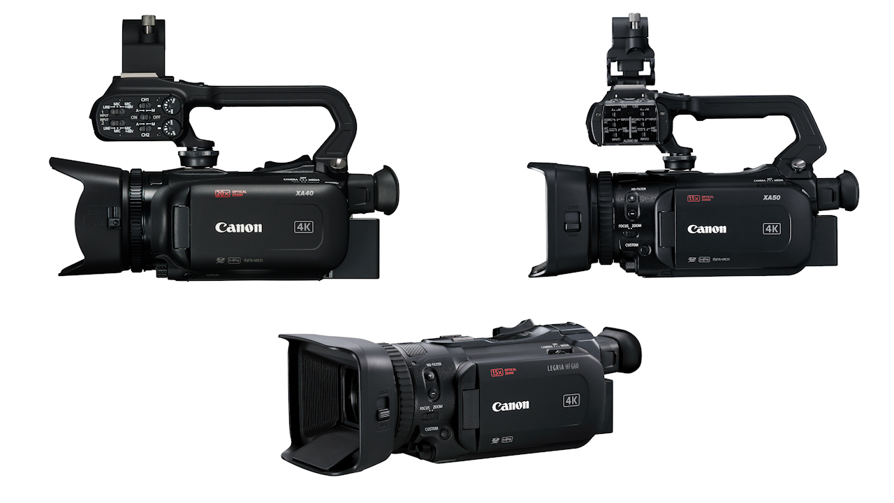 Canon XA40, XA50, XA55 and LEGRIA HF G50, HF G60 Camcorders Announced