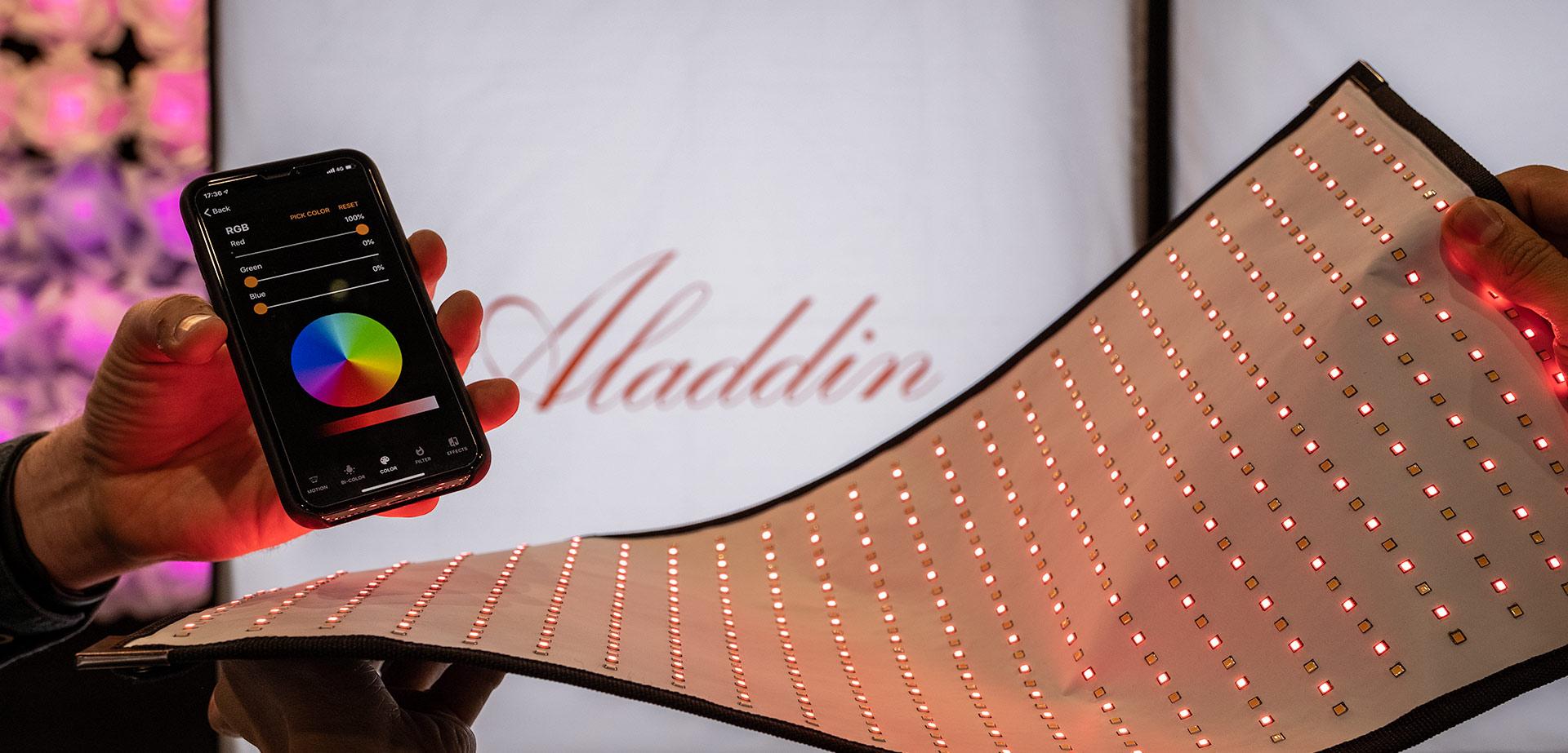 Aladdin ALL-IN - Paneles flexibles de luz bicolor + RGB