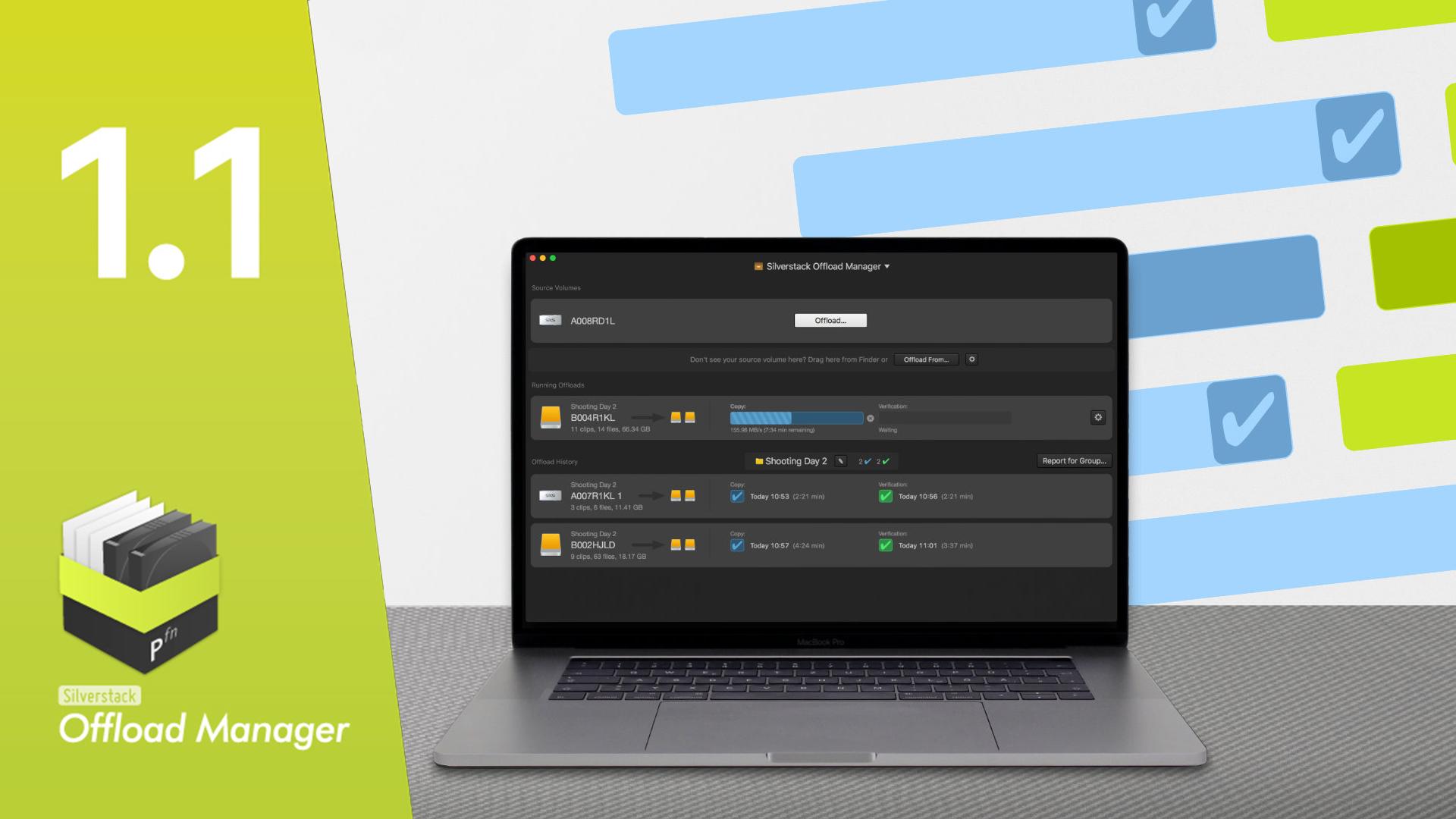 Pomfort Silverstack Offload Manager 1.1 - Ahora con transferencias en paralelo