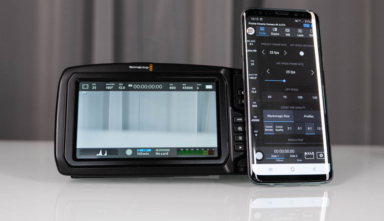 BMPCC4K Controller - Android App Controls Most Functions of Pocket 4K Camera