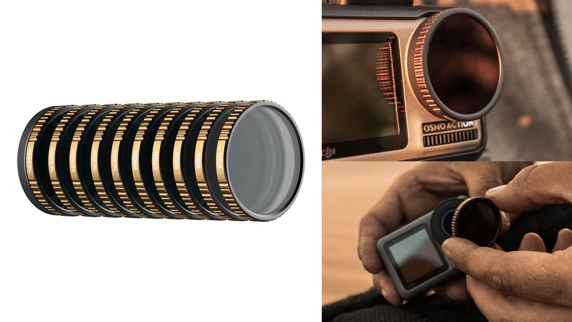 Colección PolarPro Osmo Action - NDs y Polarizadores para la cámara DJI Osmo Action