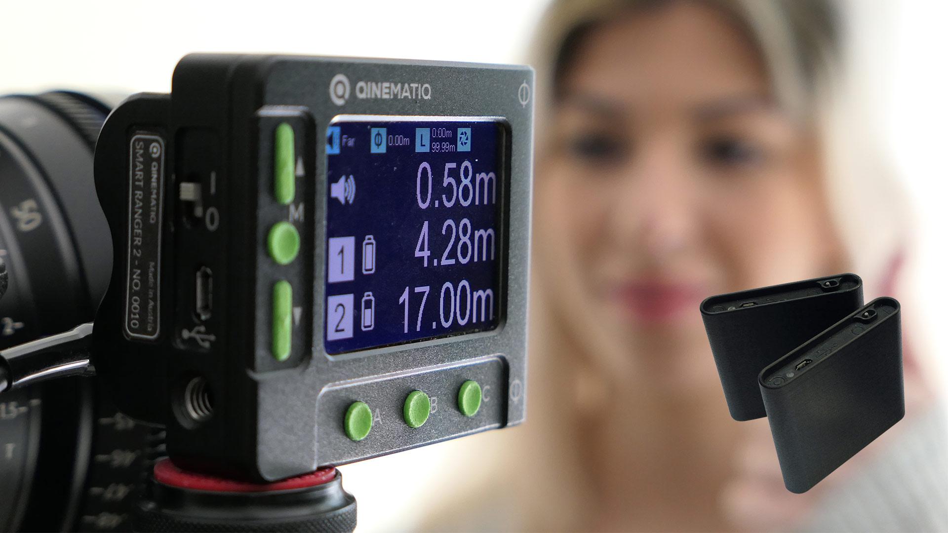 QinematiqがSmart Ranger 2を発売 - 3つの被写体を同時計測できるデジタル距離計