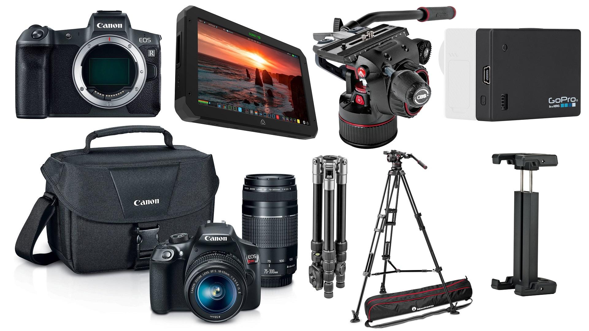 Las mejores ofertas para cineastas – $1000 de descuento en el Atomos SUMO, descuentos en la Canon EOS R, cabezales Manfrotto Nitrotech y más