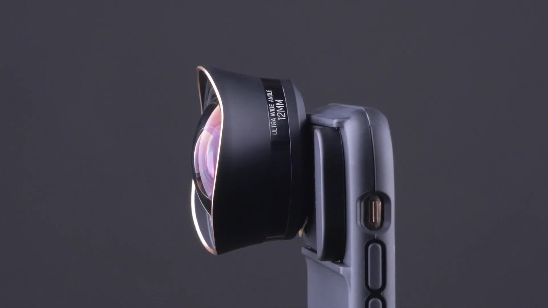 Lente asférico ultra gran angular para teléfono ShiftCam 12 mm - ahora en Kickstarter