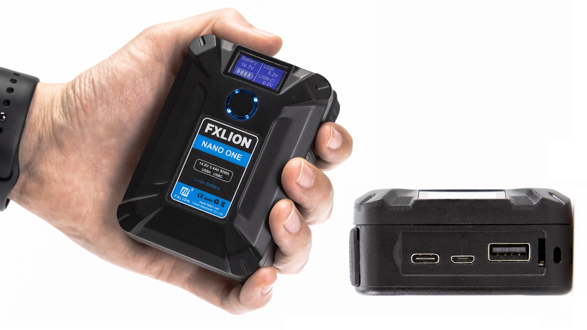 Fxlion NANO ONE – 50Wh V-Lock Battery with Multiple Connectors