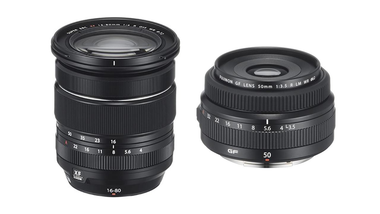 富士フイルムがXF 16-80mm F/4 R OIS WR とGF 50mm F/3.5 R LM WRを発売