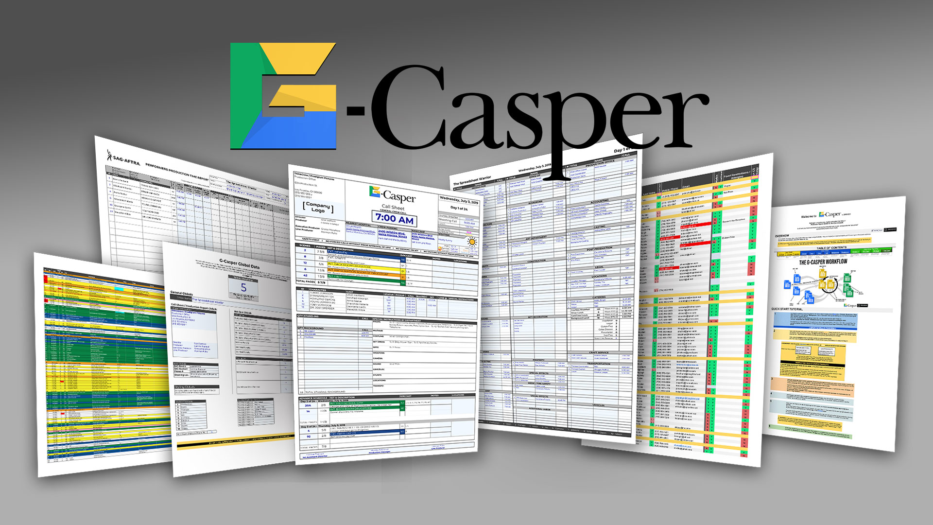G-Casper – Free Cloud-Based Tool for Easy Call Sheets