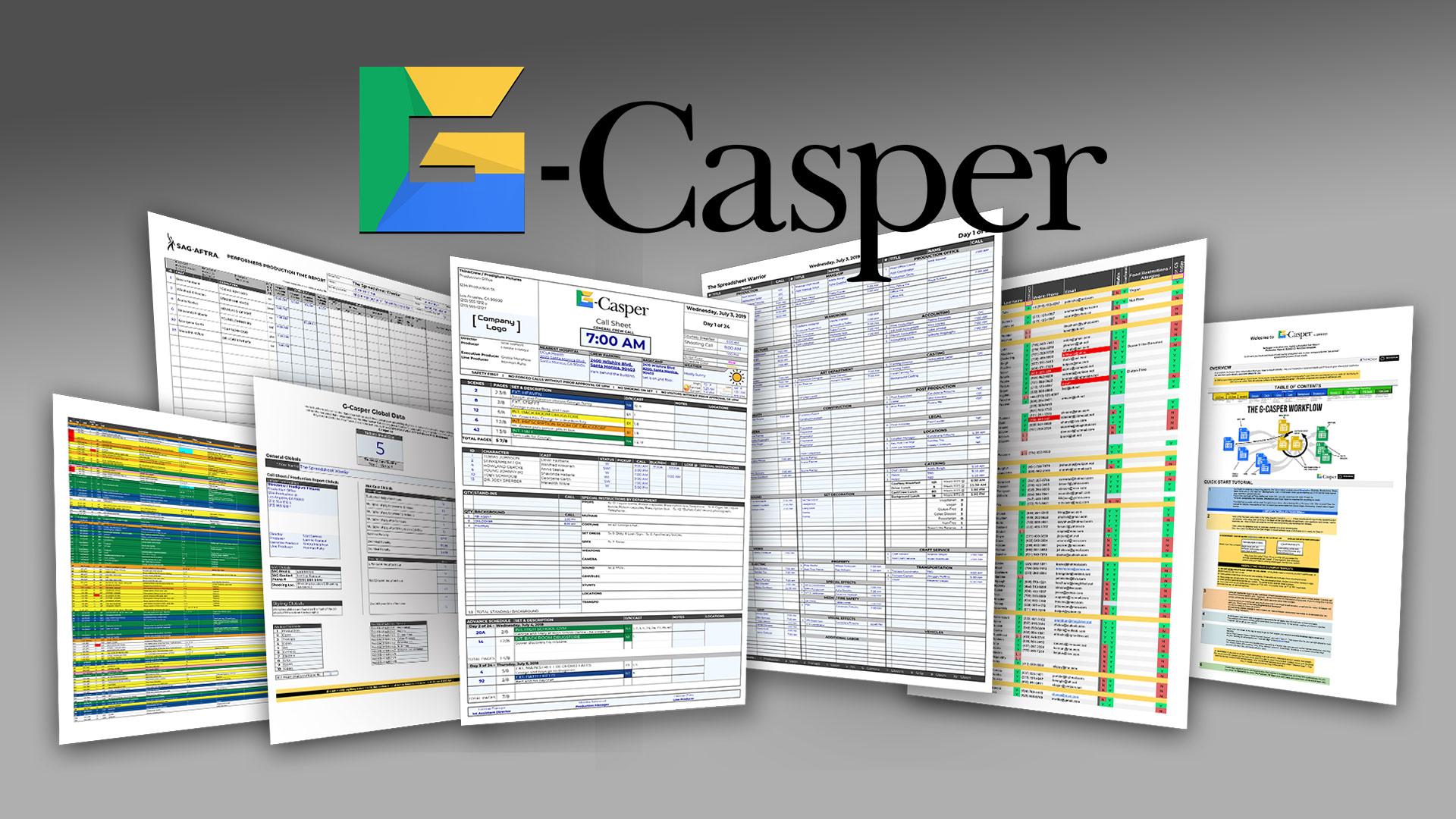 G-Casper - Herramienta gratuita basada en la nube para hojas de llamadas fáciles