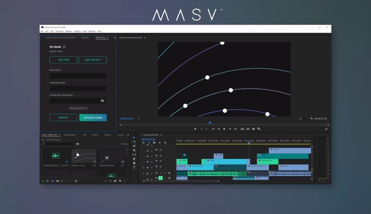 MASV Panel - File Transfer System Now Integrated Into Adobe Premiere Pro