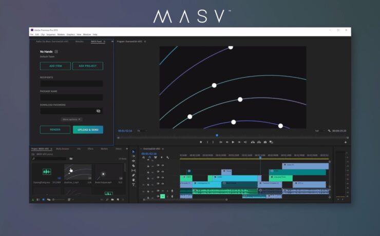 MASV Panel - File Transfer System Now Integrated Into Adobe Premiere Pro