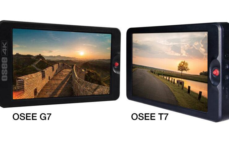 "OSEE G7 and T7 Announced - 7"" 4K SDI/HDMI 3000nits Field Monitors"