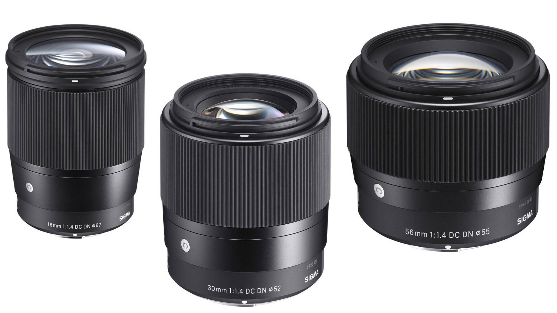 SIGMA 16 mm, 30 mm y 56 mm f/1.4 – pronto disponibles para montura Canon EF-M