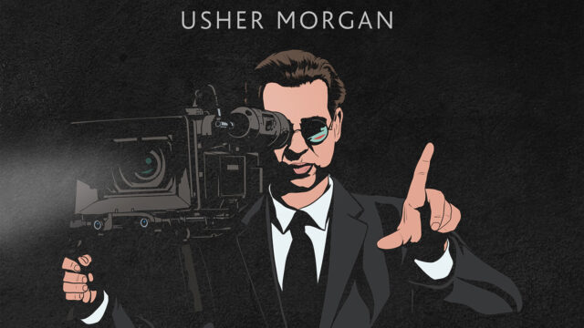 Usher Morgan Comic Figure on Book Cover