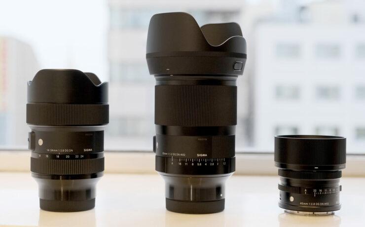 Three New SIGMA Full Frame Lenses –35mm F1.2, 45mm F2.8 & 14-24mm F2.8