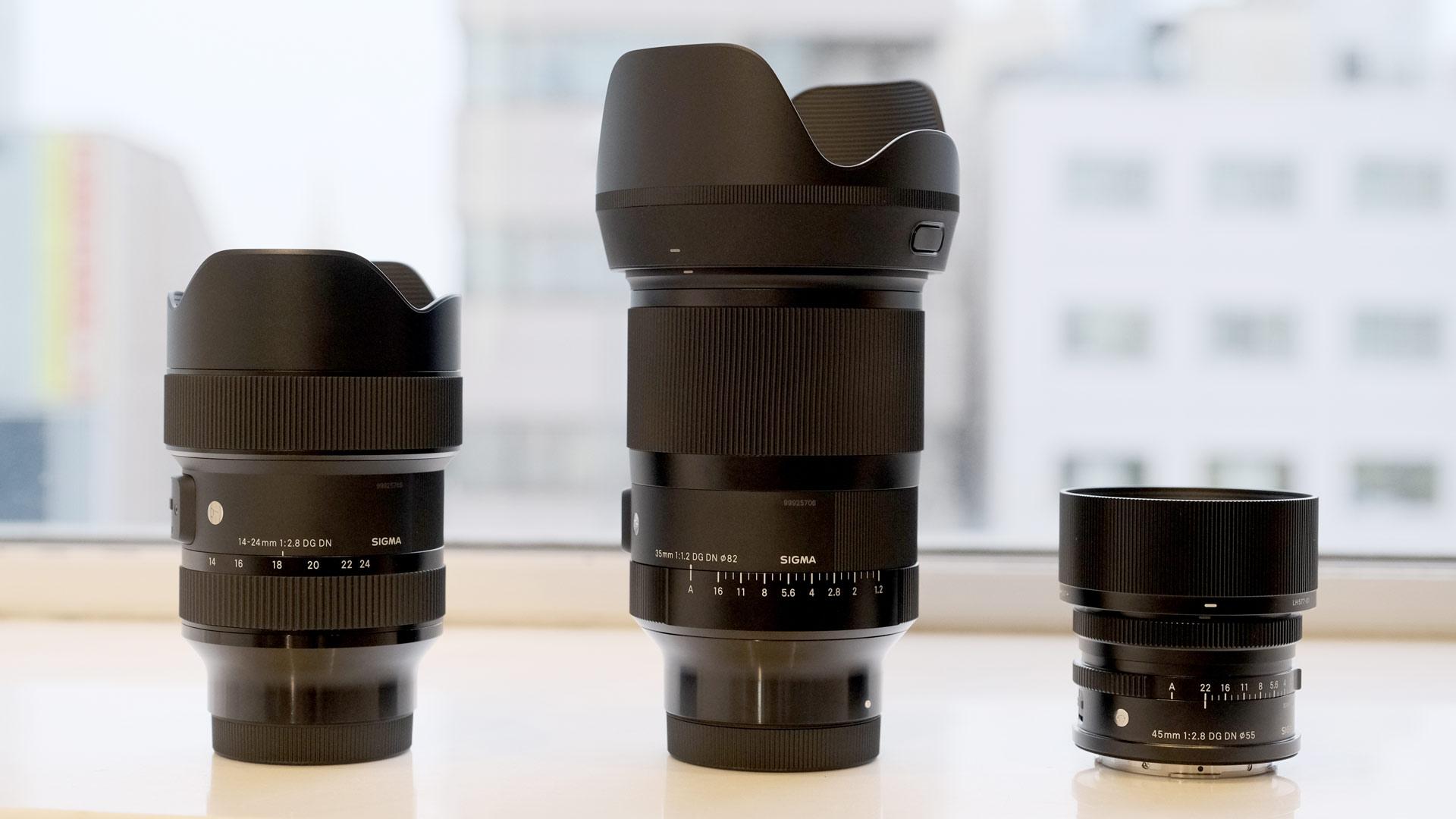 Nuevos lentes SIGMA full frame: 35 mm F1.2, 45 mm F2.8 y 14-24 mm F2.8