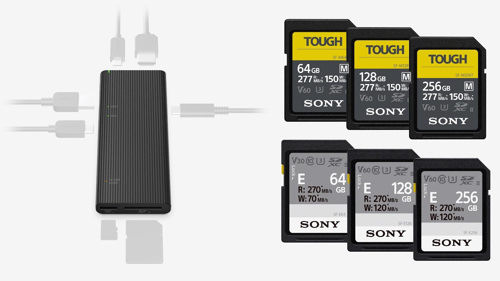 Sony – Anuncian el Concentrador USB más rápido del mundo y más tarjetas SDXC TOUGH