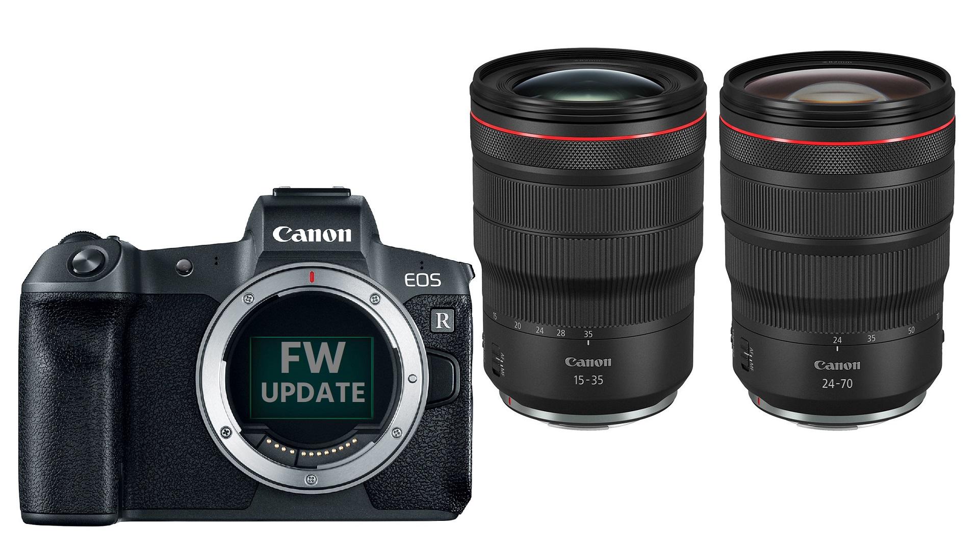 Canon anuncia los zooms RF 15-35 mm f/2.8 y 24-70 mm f/2.8 y nuevo firmware para las cámaras EOS R y EOS RP