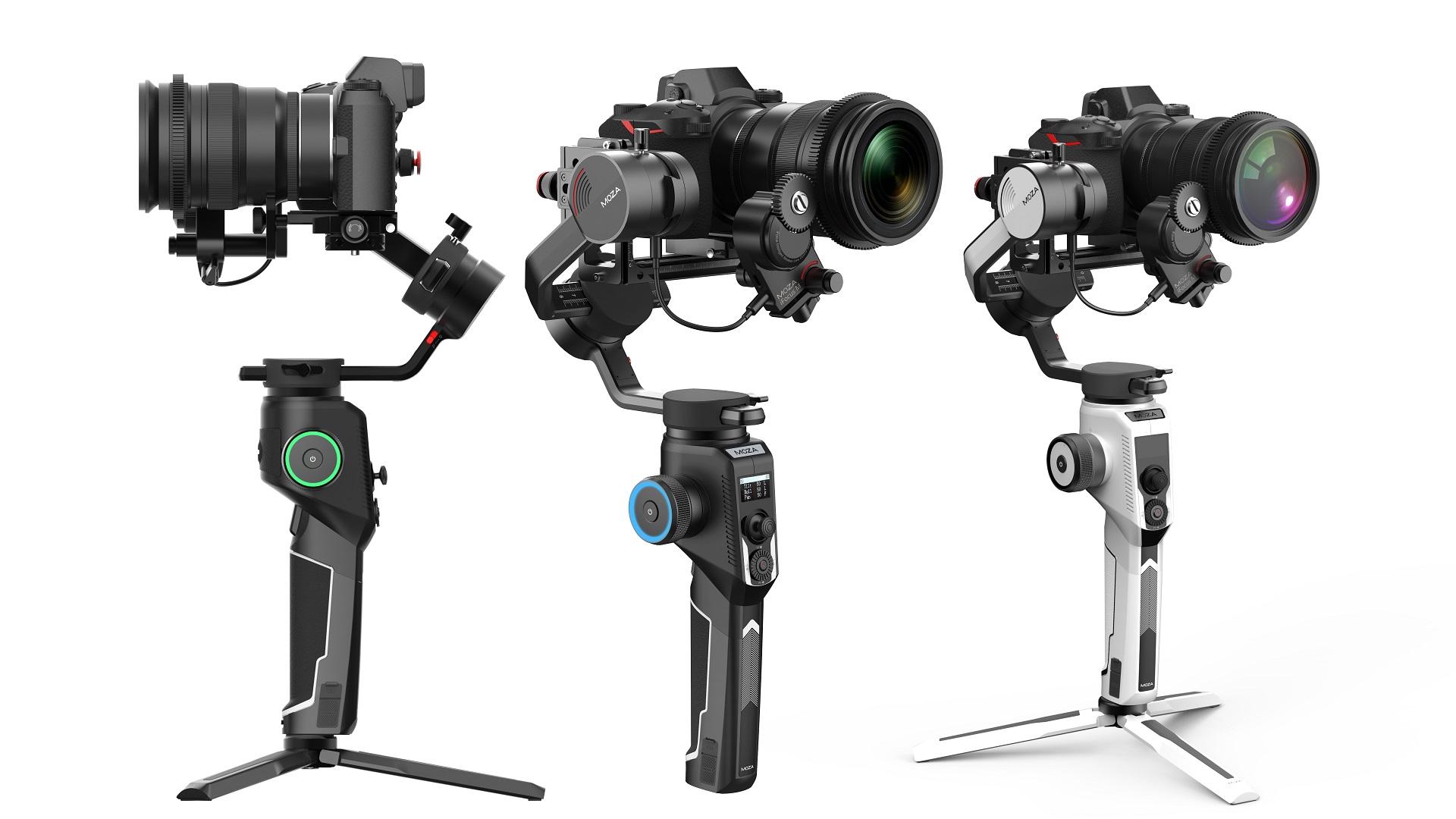 MOZA AirCross 2の予約販売が開始 - 軽量ながら最大3.2kgのカメラを搭載できるジンバル