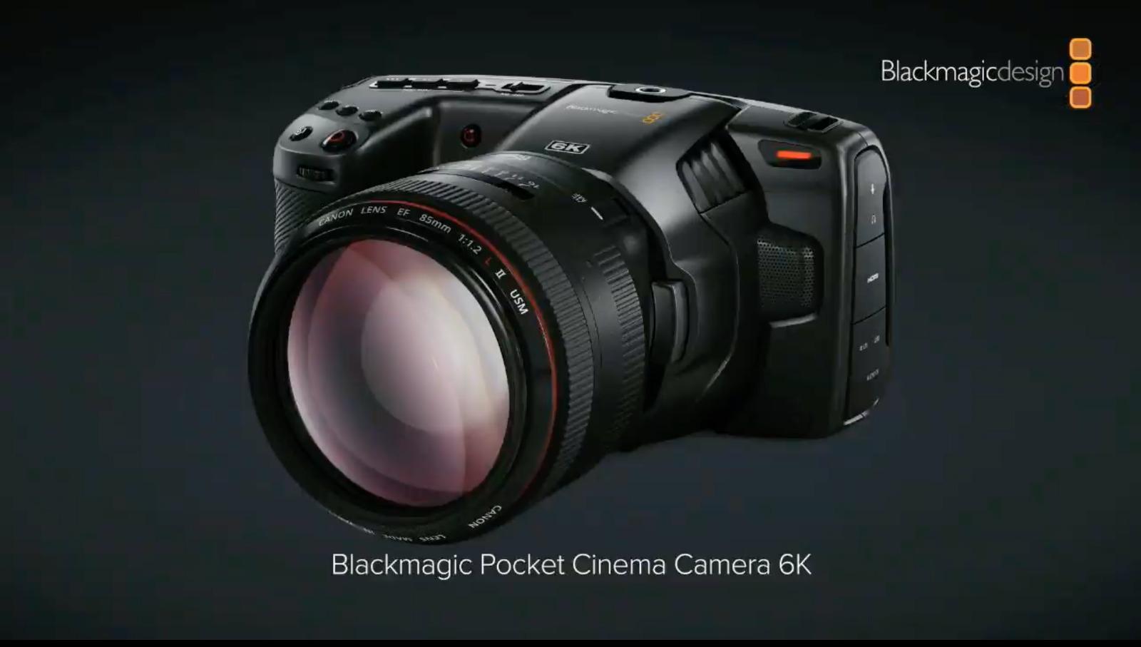 Anuncian la cámara Blackmagic Pocket Cinema 6K – sensor Super 35 y montura EF