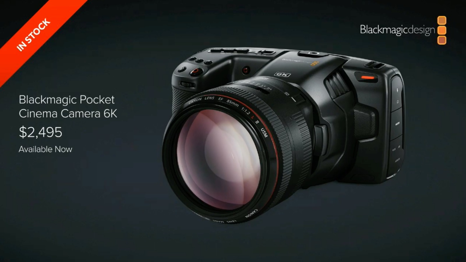 Blackmagic Pocket Cinema Camera 6K Announced Super 35