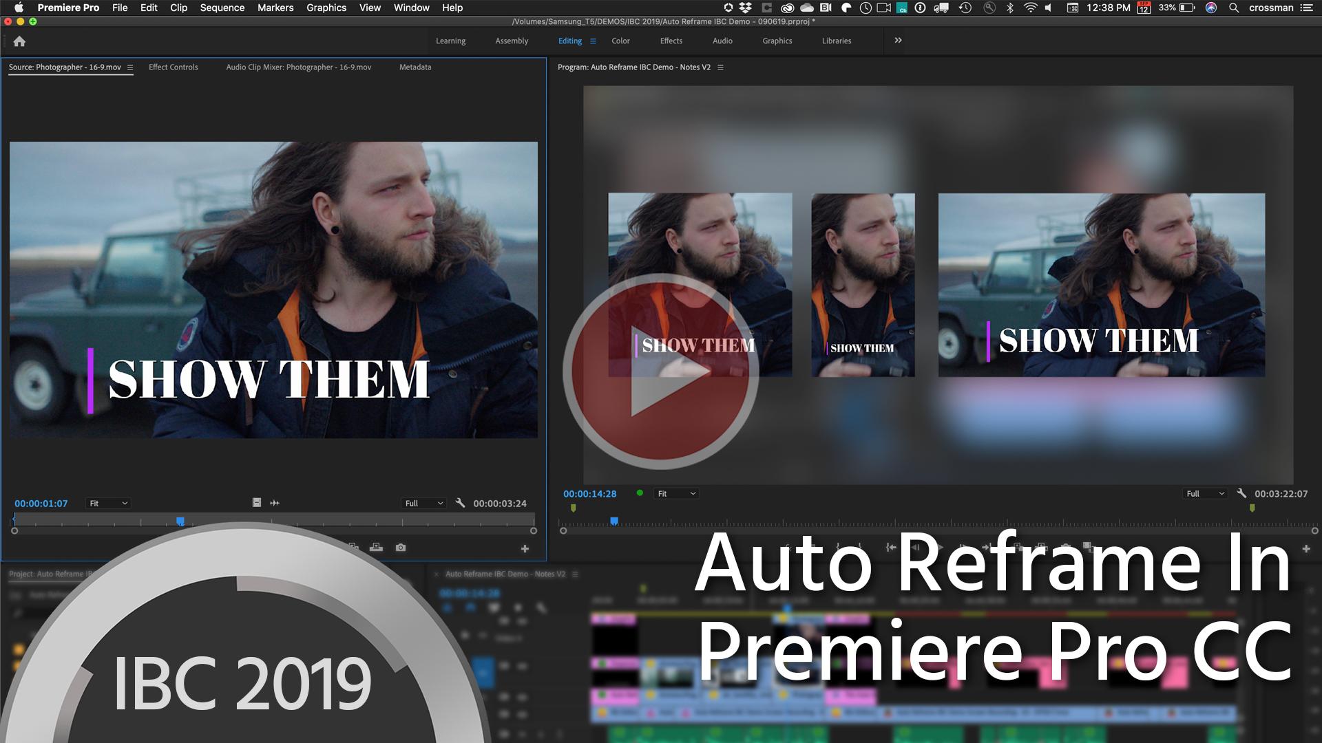 Reencuadre Automático para Premiere Pro CC edita las imágenes de forma inteligente para formatos de video de redes sociales
