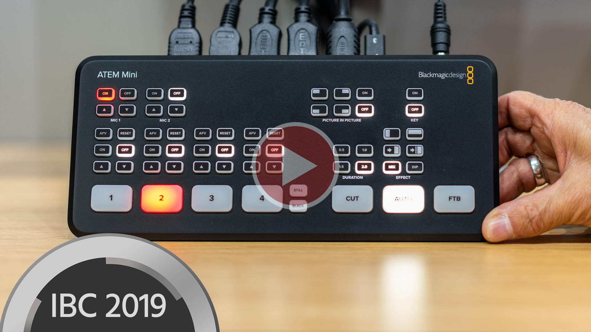 Nuevo Blackmagic ATEM Mini Switcher para transmisión y vlogging HD