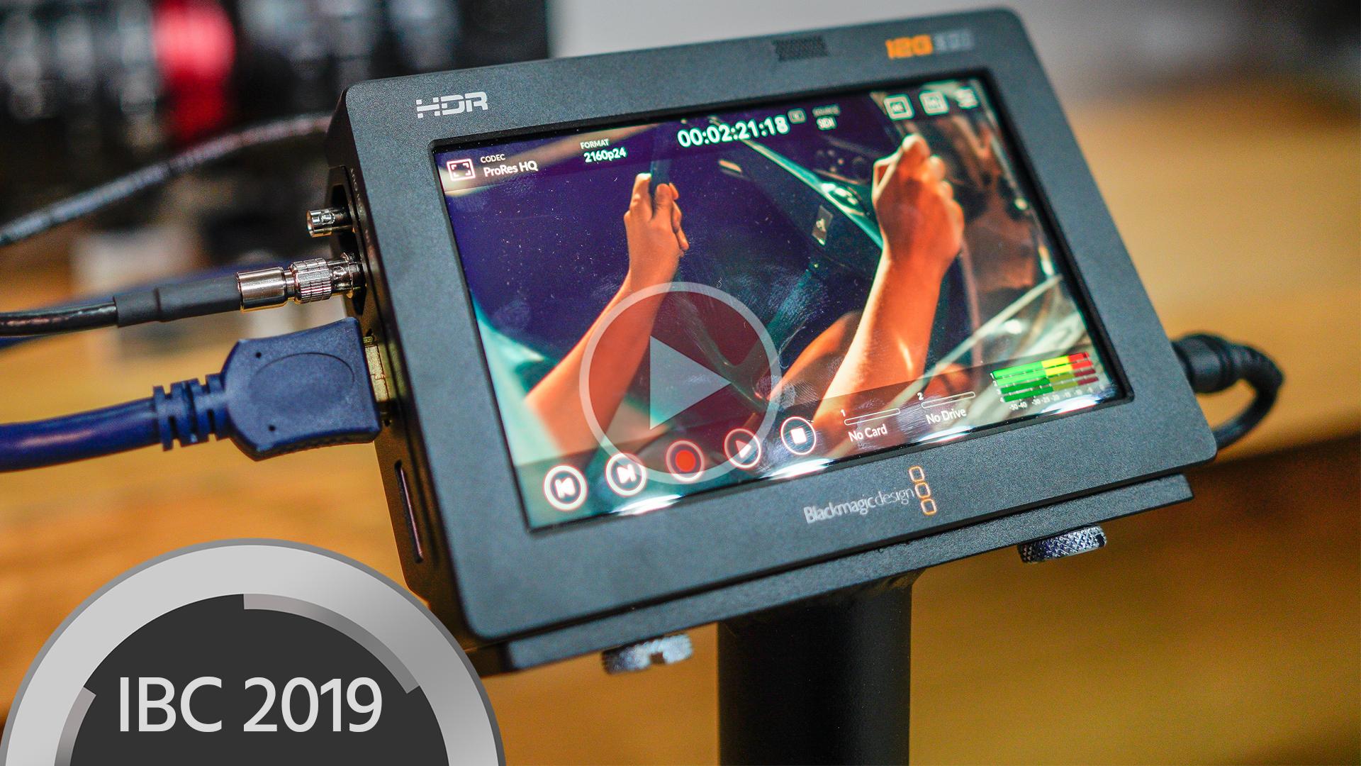 Los monitores Blackmagic Video Assist 12G permiten la grabación RAW
