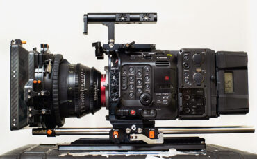 Bright Tangerine EOS C500 Mark II Left Field Cage - Snap On/Off Dovetail